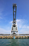 Big crane at harbour for load coal Stock Image