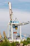 Big crane in the port Royalty Free Stock Photos