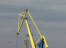 Big crane. To load cargo in port Stock Image