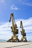Big Crane tower in jetty Stock Photography