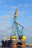 Big  crane vessel Royalty Free Stock Photo