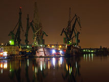 Big cranes and dock Royalty Free Stock Photo