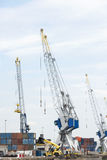 Big cranes in dutch harbor Stock Image