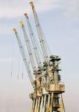 Big cranes in the harbour Stock Photo
