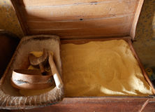 Big crate with corn flour Royalty Free Stock Photography