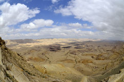 The Big Crater in Negev desert. Royalty Free Stock Photo
