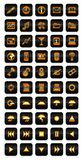 Neon icon set Royalty Free Stock Image