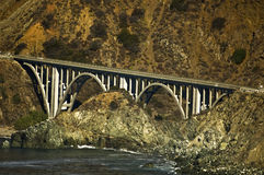 Big Creek Bridge. This is a picture of Big Creek Bridge on the Pacific Highway on the Big Sur Coast of California Stock Photography