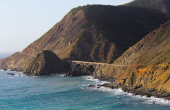 Big Creek Bridge Big Sur Royalty Free Stock Images
