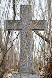 Big cross in the catholic cemetery of Rasos in Vilnius, Lithuania Stock Photos