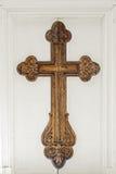 Big cross on the church door Royalty Free Stock Photography
