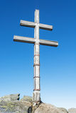 Big cross on the hill Dumbier in Low Tatras mountains, travellin Stock Photos