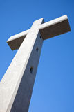 Big cross in rhodes greece Stock Photos