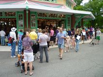 Big Crowd at the Carousel Stock Photography