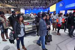 Big Crowd at the Ford Exhibit Stock Image