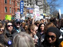 Big Crowd at the March for Lives Rally. Photo of big crowd of people holding up signs at the march for lives rally in downtown washington dc on 3/24/18.  These Stock Photos