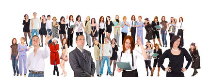 Big crowd of  people. Big crowd of business people Royalty Free Stock Photos