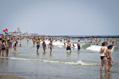 Big Crowds Jersey Shore Stock Image