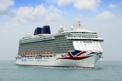 Big Cruise Britannia Of P&O Company Stock Photography