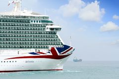 Big cruise Britannia of P&O Company Royalty Free Stock Images