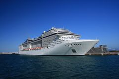 Free Big Cruise In Port Royalty Free Stock Photos - 13539388