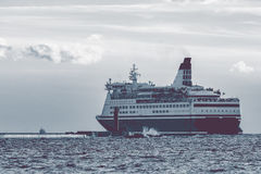 Big cruise liner. Passenger ferry sailing from Riga to Stockholm Royalty Free Stock Image