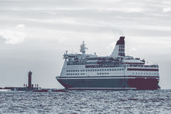 Big cruise liner. Passenger ferry sailing from Riga to Stockholm Stock Photo