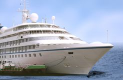 Big cruise liner in the sea Royalty Free Stock Photography
