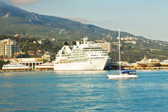 Big cruise liner, Yalta Royalty Free Stock Photos