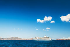 Big cruise liners near the Greek Islands Royalty Free Stock Image