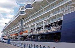 Big cruise ship. Cruise ship is docked at Port royalty free stock photo