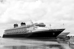 Big cruise ship Disney Wonder Stock Photo