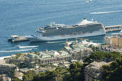 Big cruise ship docked in Monaco Royalty Free Stock Images
