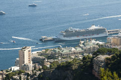 Big cruise ship docked in Monaco Stock Images