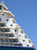 Big Cruise ship docked in port, Stock Images