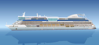 Big cruise ship. On gradient background. EPS 10 format Stock Image