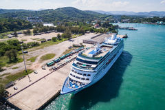 Big cruise ship `Insignia` standing at the harbour Royalty Free Stock Photo