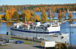 Big cruise ship at the Lappeenranta harbour Stock Image