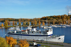 Big cruise ship at the Lappeenranta harbour Stock Photography