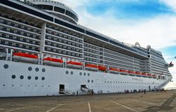 Big cruise ship in port. Big cruise ship in the port Stock Images