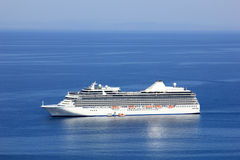 Big cruise ship. In the water of the greek sea Royalty Free Stock Photos