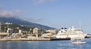 Big cruise ship, Yalta Stock Photo