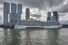Big cruiser at Rotterdam Europort Royalty Free Stock Images