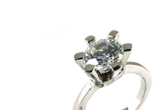 Big crystal ring Stock Photos