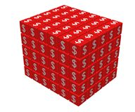 Big cube. Formed by red dice - 3d render Royalty Free Stock Photos