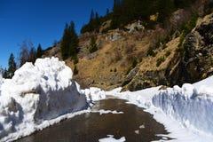 Big cube of snow Royalty Free Stock Photos