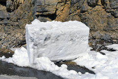 Big cube of snow Stock Images