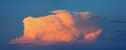 Big cumulus cloud during sunset Royalty Free Stock Photo
