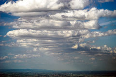 Big cumulus clouds over the land Royalty Free Stock Photography