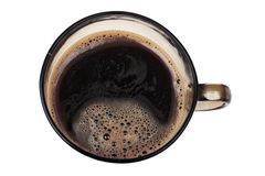 Big cup coffee macro Royalty Free Stock Images